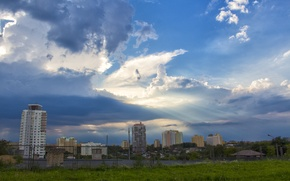 Picture clouds, heaven, Minsk, after the storm, kurasovshina