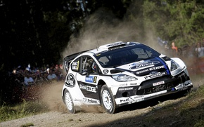 Picture Ford, Wheel, Sport, Turn, Skid, Car, WRC, Rally, Fiesta, The front