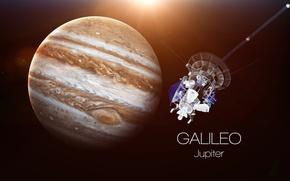saturn, satellite, Galileo