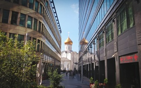 Picture city, building, Church, Moscow, summer, Russia, skyscrapers, architecture, building, travel
