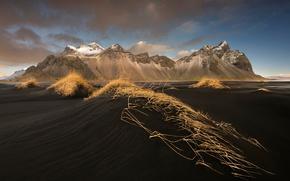 Picture beach, mountains, mountain, Iceland, Stones