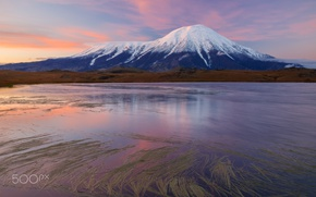 Picture the sky, lake, mountain, Kamchatka