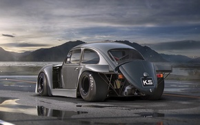 Picture Car, Old, Future, Volkswagen, DRAG, by Khyzyl Saleem, Tuning, Beetle