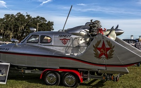 Picture boat, The Tupolev A-3, Snowmobile amphibious As-3
