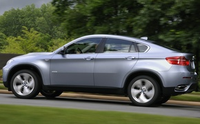 Picture road, trees, BMW-x6
