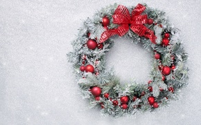 Picture balls, Christmas, wreath