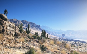 Picture desert, soldiers, cacti, ghost recon wildlands