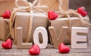 Wallpaper heart, love, heart, love, gift, romantic