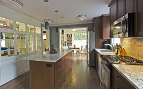 Picture interior, design. house, kitchen and dining
