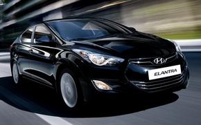 Picture road, speed, Hyundai