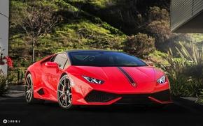 Picture car, red, Lamborghini Huracan