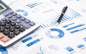Picture paper, economy, calculator