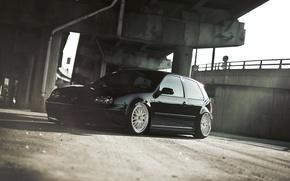 Picture bridge, volkswagen, Golf, golf, Volkswagen