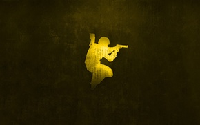 Picture special forces, gold, Desert Eagle, Counter Strike, source