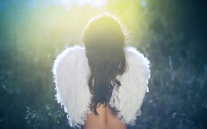 Wallpaper angel, girl, wings