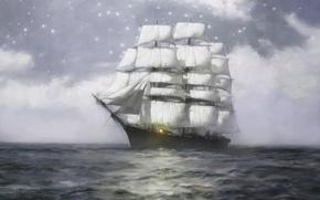 Picture sea, the ocean, Ship, The ship, sea, ocean, Sail, Ship