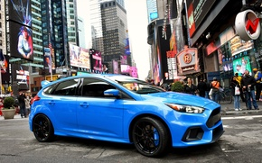 Picture focus, 2015, US-spec, Focus, people, the city, Ford, blue, Ford