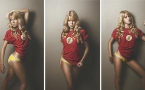 Picture girl, photo session, Flash, Comics, Flash
