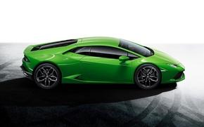 Picture Auto, Lamborghini, Green, Lamborghini, Green, Side, Huracan, Huracan, LP610-4