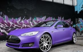 Picture car, Tesla, Model S, P85