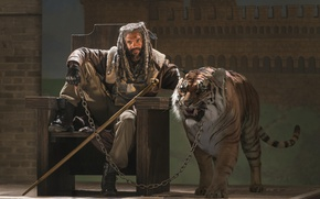 Picture wallpaper, pet, court, The Walking Dead, official wallpaper, TWD, animal, survivor, chain, catch, throne, predator, …