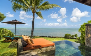 Picture pool, ocean, view, villa