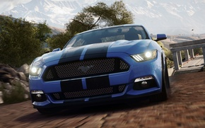 Picture Ford, Need for Speed, Blue, nfs, 2013, Rivals, NFSR, NSF, Mustang GT 2015