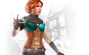 Wallpaper the enchantress, Triss Merigold, Triss Merigold, Witcher 3: Wild Hunt