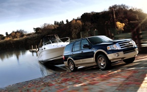 Picture boat, Ford, Expedition