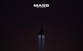 Picture space, Mass Effect, stars, Normandy