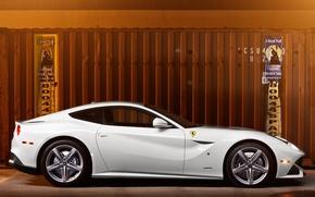 Picture white, container, profile, white, ferrari, Ferrari, Berlinetta, f12 berlinetta