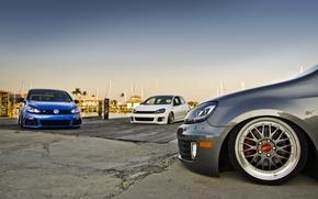 Picture tuning, Volkswagen, volkswagen golf, stance