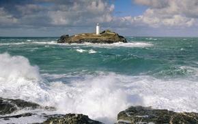 Wallpaper Lighthouse, England, Cornwall
