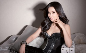Picture smile, hair, shadow, brunette, bracelet, corset, Asian