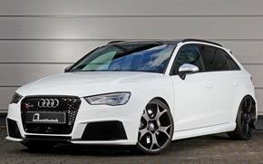 Picture Audi, Audi, white, Sportback, RS 3, B&B