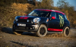 Wallpaper Auto, Black, Dirt, Lights, Mini Cooper, MINI, Mini Cooper, Paceman