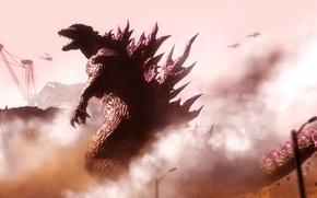 Picture destruction, Godzilla, Godzilla, fan art