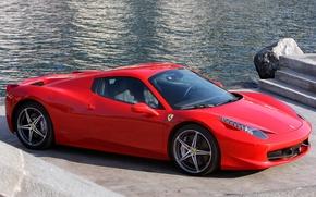 Picture red, Ferrari, supercar, red, car, Spider, 458 Italia