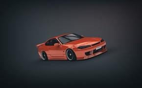 Picture Orange, Nissan, Orange, S15, Silvia, Nissan, Sylvia, Minimalistic, Bodywork, by Binary Map