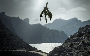 Picture road, mountains, lake, fantasy, dragon, photo, photographer, Andrés Nieto Porras