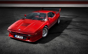 Picture car, BMW, red, rechange, bmw m1