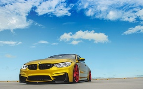 Picture BMW, Red, Sky, Wheels, Incurve, LP-5