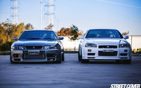 Picture nissan, turbo, white, skyline, tuning, gtr, r34, r33, nismo, datsun