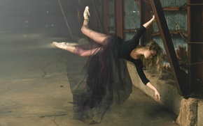 Picture flight, ballerina, levitation