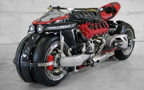Picture grey, motorcycle, Background, Lazareth-LM-847, beast.