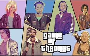 Picture parody, GTA, Game Of Thrones, Game of Thrones