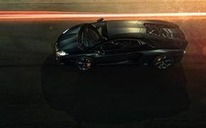 Picture Black, Lamborghini, Lamborghini, Black, LP700-4, Aventador, Aventador