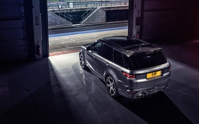Picture garage, Range Rover, rear view, Sport, Overfinch