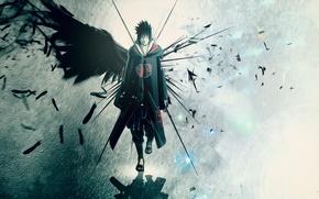 Picture feathers, wing, naruto, Anime, Sasuke, akatsuki