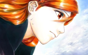Wallpaper girl, face, Anime, bleach, Orihime Inoue, Orihime Inoue